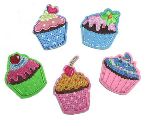 Cupcake Muffin Bügelbild Applikation Patch01